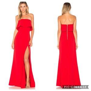 Lovers + Friends Anzen red strapless gown